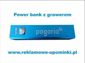 .Power bank z grawerem