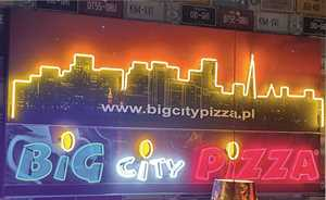 Neon Big City Pizza